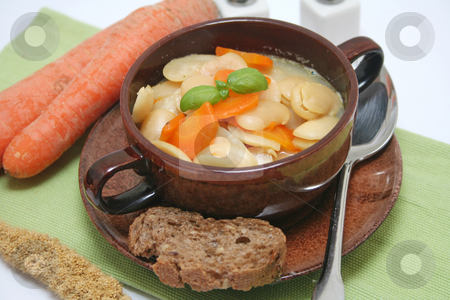 Fresh stew stock photo, A fresh stew of beans and carrots by Yvonne Bogdanski