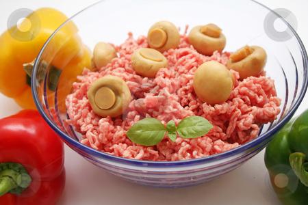 Fresh meat stock photo, Fresh meat wit mushrooms by Yvonne Bogdanski