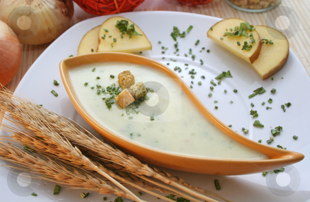 Soup of potatoes stock photo, Soup of potatoes by Yvonne Bogdanski