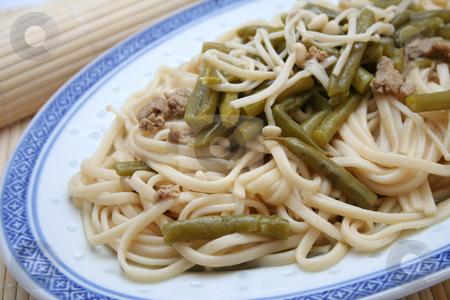 Udon noodles stock photo, Japanese food by Yvonne Bogdanski