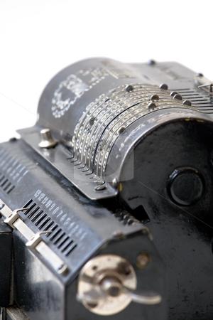 Adding machine stock photo, Retro mechanical adding machine by Mikhail Egorov