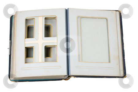 Old photoalbum stock photo, Old photoalbum with blank pages by Mikhail Egorov