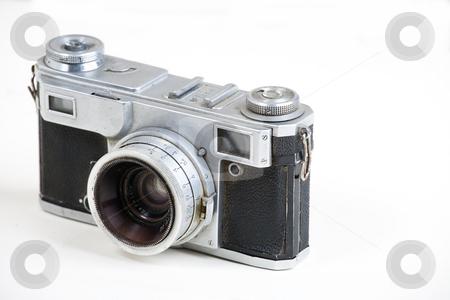 Camera stock photo, Old film rangefinder camera by Mikhail Egorov