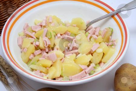 Fresh salad stock photo, Fresh salad of potatoes by Yvonne Bogdanski