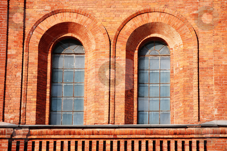 Windiows stock photo, Windows in fortress wall by Mikhail Egorov