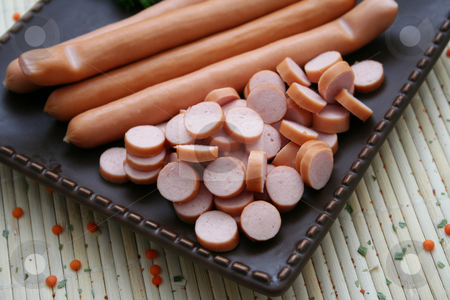 Sausage stock photo, Sausage by Yvonne Bogdanski