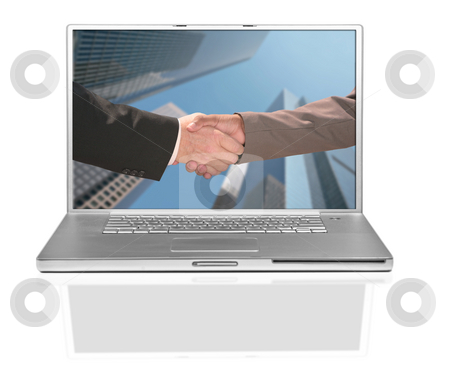 Two Business Men Shaking Hands stock photo, Two Business Men Shaking Hands in Agreement by Katrina Brown