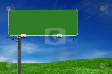 Outdoor Advertising Billboard Freeway Sign stock photo, Outdoor Advertising Billboard Freeway Sign in Natural Setting by Katrina Brown