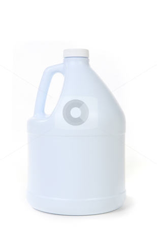 Blank White Bottle of Bleach Isolated stock photo, Blank White Bottle of Bleach Isolated on White Background by Katrina Brown