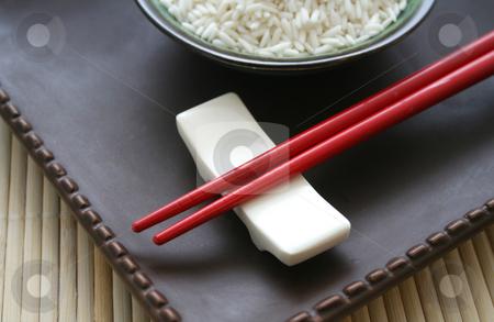 Asian chopsticks stock photo, Asian chopsticks by Yvonne Bogdanski