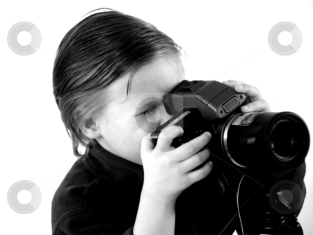 Little photographer stock photo, Little photographer by Yvonne Bogdanski