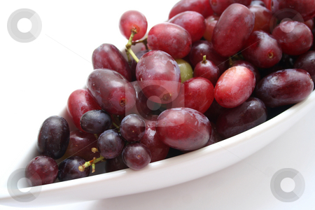 Red grapes stock photo, Red grapes by Yvonne Bogdanski