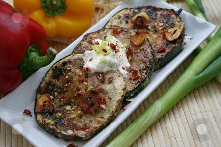 Fresh zucchini stock photo, Fresh zucchini by Yvonne Bogdanski
