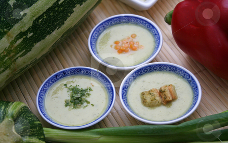 Fresh soup stock photo, Fresh soup of zucchini by Yvonne Bogdanski