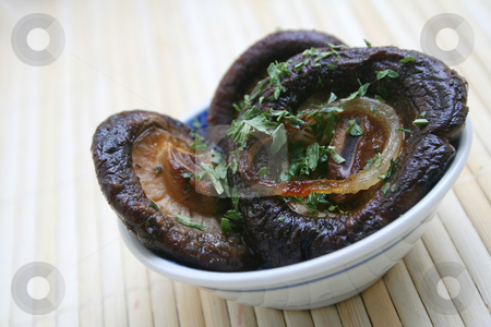 Shiitake stock photo, Asian mushrooms by Yvonne Bogdanski