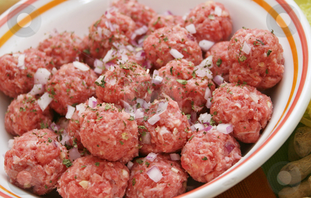 Fresh meatballs stock photo, Fresh meatballs by Yvonne Bogdanski