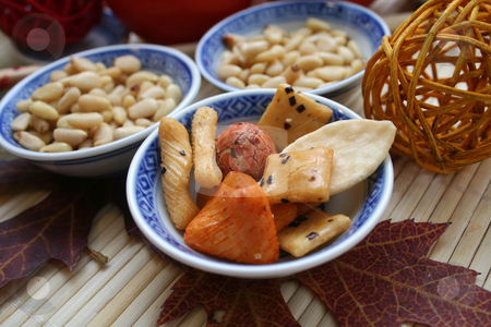 Asian ricecookies stock photo, Asian ricecookies by Yvonne Bogdanski