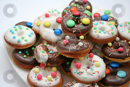 Donuts stock photo, Fresh donuts by Yvonne Bogdanski