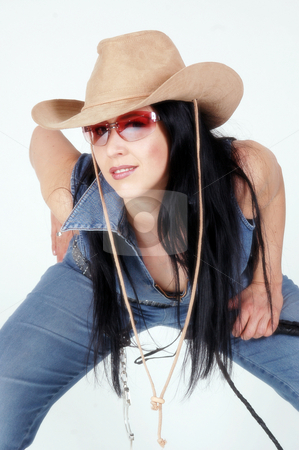 Cowgirl stock photo, Young girl by Yvonne Bogdanski