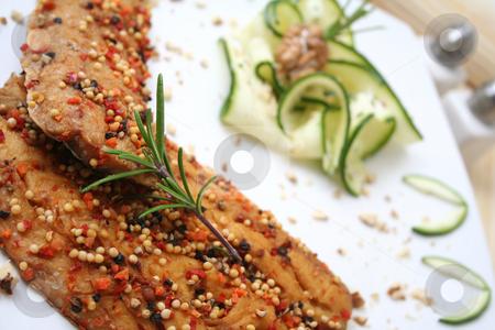 Fresh fish stock photo, Fresh fish with pepper by Yvonne Bogdanski