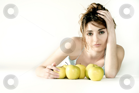 Vitamins stock photo, Young woman by Yvonne Bogdanski