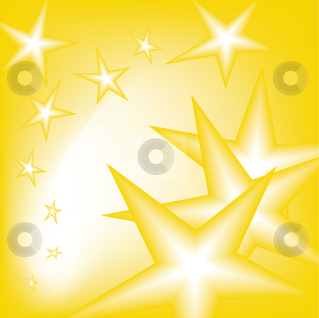 Falling stars stock vector clipart, Falling stars from the sky in yellow by Karin Claus
