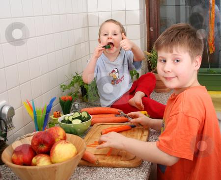 In the kitchen stock photo,  by Yvonne Bogdanski