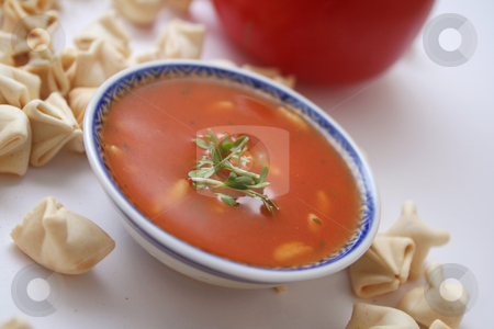 Fresh soup stock photo,  by Yvonne Bogdanski