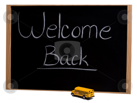 Back To School stock photo, A blackboard with the words