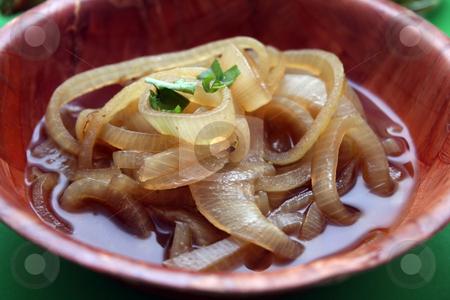 Soup of onions stock photo, Soup of onions by Yvonne Bogdanski