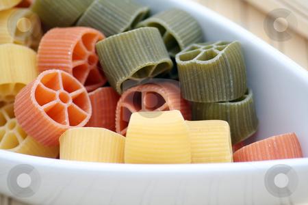 Pasta tricolore stock photo, Pasta tricolore by Yvonne Bogdanski