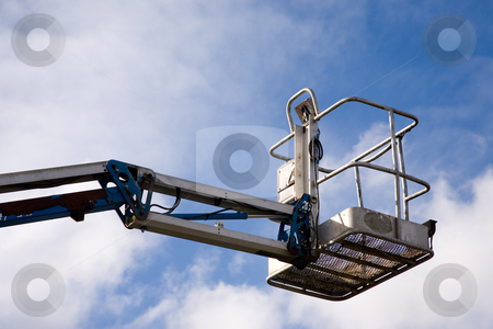 Crane Platform stock photo, A close up on an industrial elevated crane platform. by Travis Manley