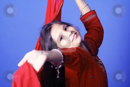 Indian Girl stock photo, Studio by Yvonne Bogdanski