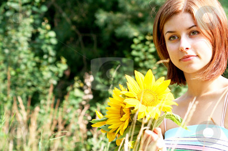 Summerfeelings stock photo, Frauenportrait by Yvonne Bogdanski