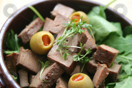 Salad with liver stock photo,  by Yvonne Bogdanski