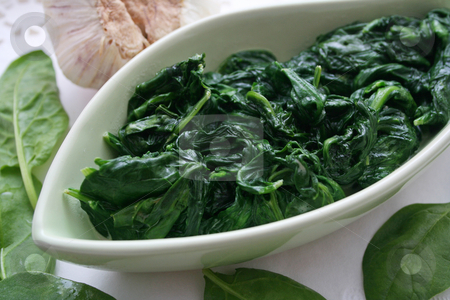 Fresh spinach stock photo,  by Yvonne Bogdanski