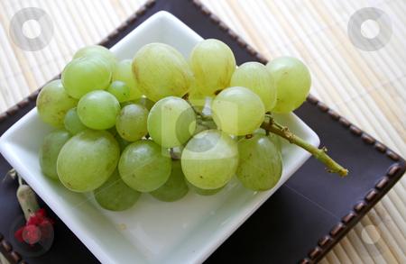 Green grapes stock photo,  by Yvonne Bogdanski