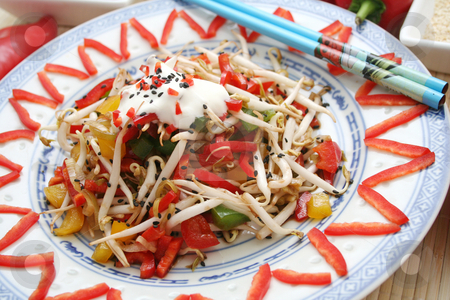 Asian salad stock photo,  by Yvonne Bogdanski