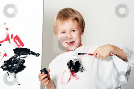 Young painter stock photo, Kinderfotografie by Yvonne Bogdanski
