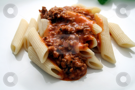 Pasta Bolognese stock photo,  by Yvonne Bogdanski