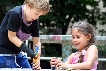On the playground stock photo,  by Yvonne Bogdanski
