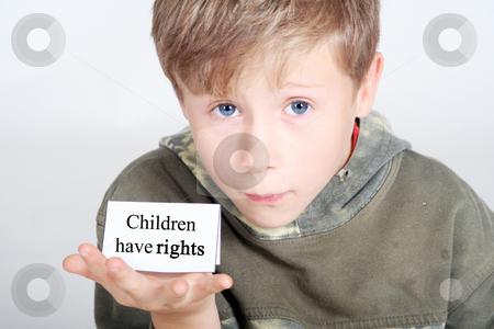 Children have rights stock photo, Studio by Yvonne Bogdanski
