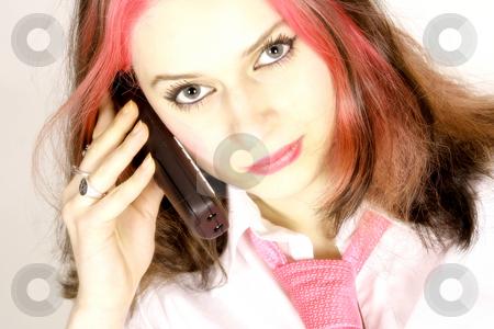 On the phone stock photo, Studio by Yvonne Bogdanski