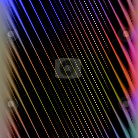 Colorful Striped Background stock photo, A background texture with rainbow colored diagonal stripes. by Todd Arena