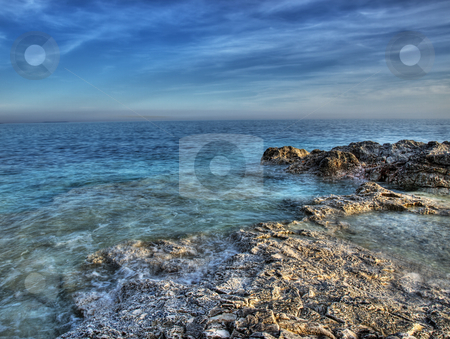 Adriatic coastline stock photo, Rocky but beautiful coast of the clean Adriatic sea by Sinisa Botas