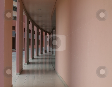 Corridor stock photo, Corridor turning to the right by Jose .