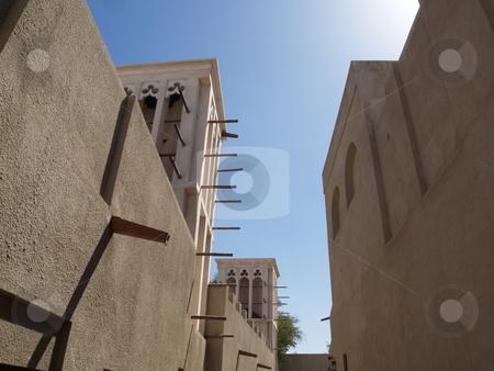 Building 02 stock photo, Old Dubai street in Bastakiya by Jose .