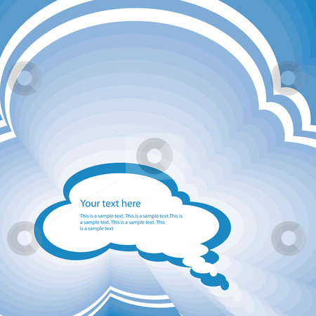 Cloud balloon stock vector clipart, Abstract retro cloud balloon with text space by Karin Claus