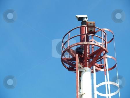 Beacon stock photo, Nautical beacon on the top of a pole by Jose .
