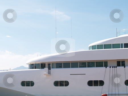 Yacht 05 stock photo, Front section of a private yacht by Jose .